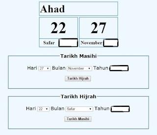Tarikh Lahir Mengikut Kalender Islam