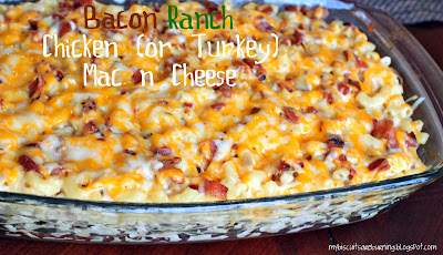 Bacon Ranch Chicken Mac & Cheese