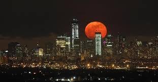 Uma laranja na noite