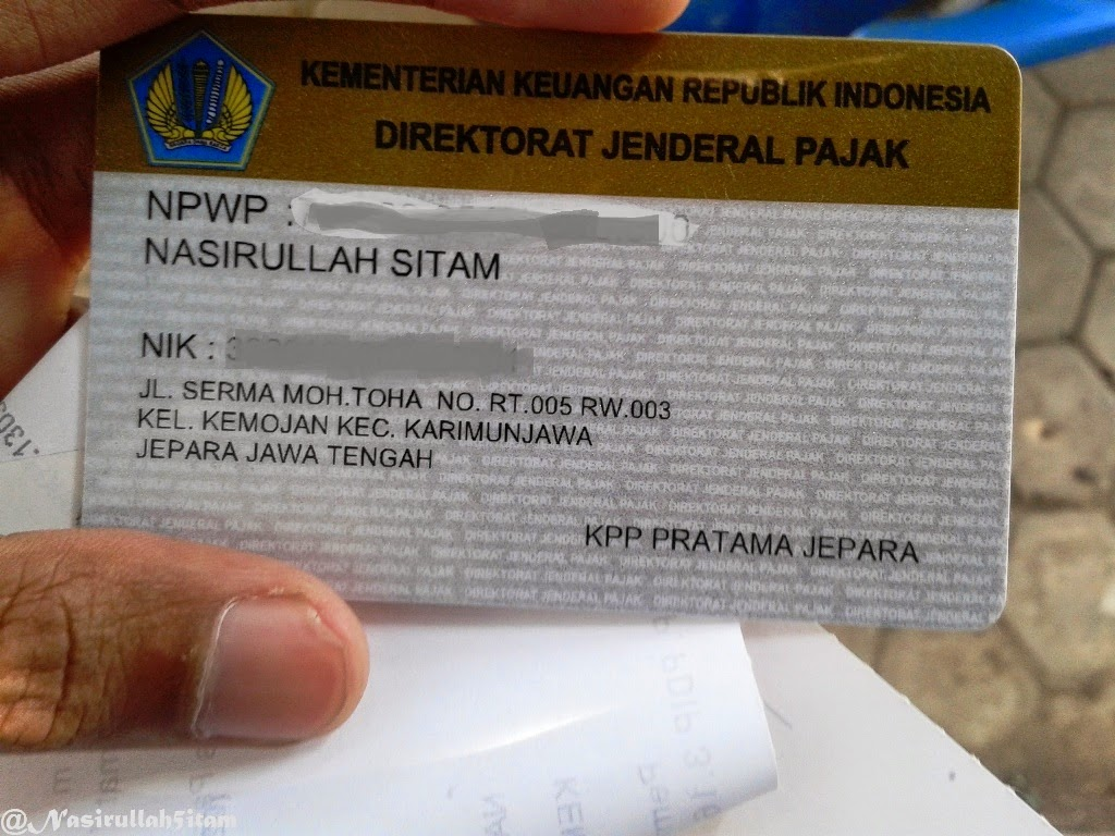 Kartu NPWP-ku sudah jadi