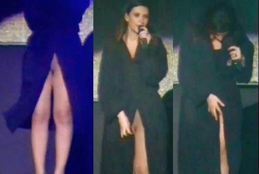famosa cantante desnuda descuido: