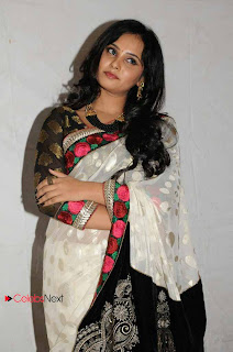 Aarushi Pictures in White Saree at Premantene Chitram Movie Audio Release Function  0006.jpg