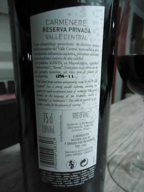 Vinho, Kawin, Carmenére