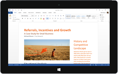 Microsoft launches Office Mobile apps (Word, Excel, PowerPoint & OneNote) for Windows 10 tablets