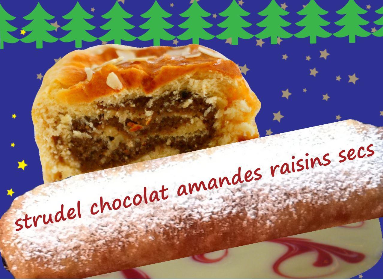 food cuisine du monde recette de strudel de no 235 l au chocolat amandes raisins secs