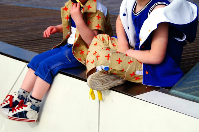 Outfits for Stylo issue 4,  1 fabric 5 ways sewn by huisje boompje boefjes