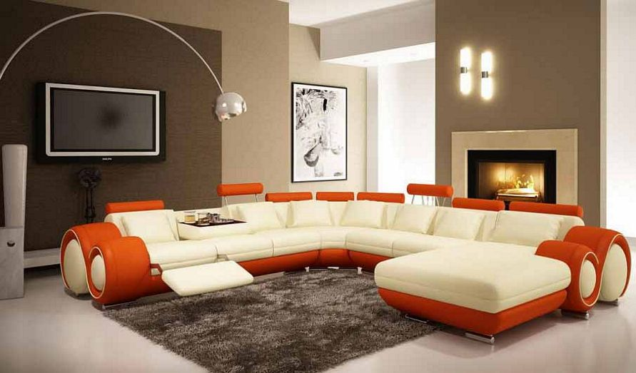 contoh cat interior ruang keluarga populer