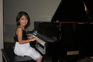 Catalina durante el recital