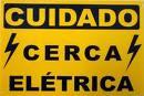 Cuidado Cerca Elétrica