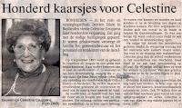 Celestina Ceuppens 1893-1993, blies 100 kaarsjes uit