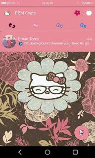 BBM Mod Pink Hello Kitty Theme Versi 2.9.0.51 Apk
