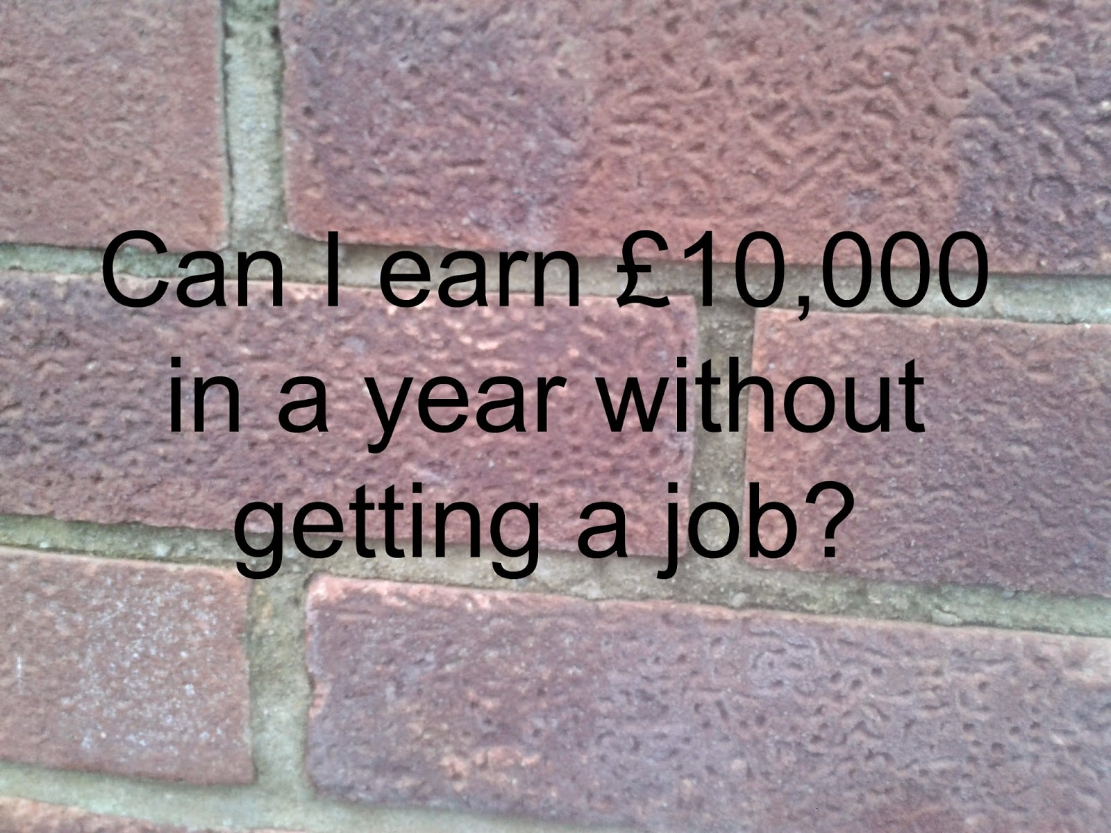 earn pound in a year no job eco thrifty living this year i have a plan to earn pound10 000 over the course of the year out getting a job or starting up my own business