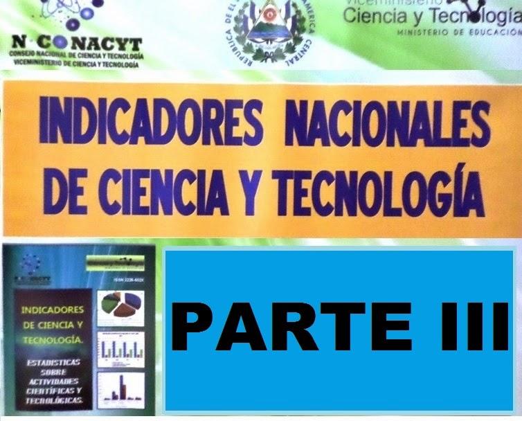 Indicadores de Ciencia yTecnologia 2013-3