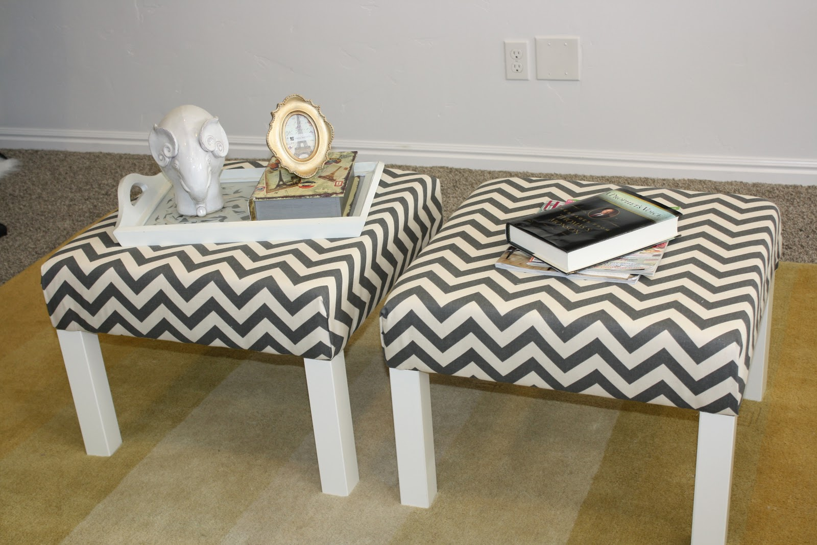 melissa rey styles diy ottomans from ikea lack 39 s. Black Bedroom Furniture Sets. Home Design Ideas