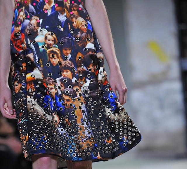 Proenza Schouler Spring/Summer 2013 details of crowd scene dress