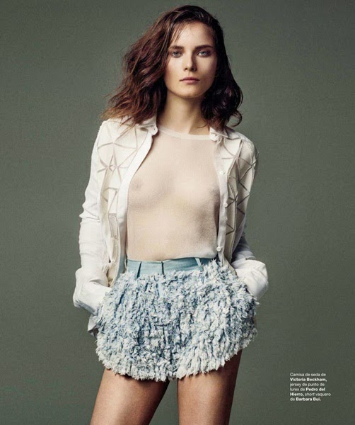 Barbara Bui 2014 SS Editorial: Blue Ombre Shredded Fringed Shorts