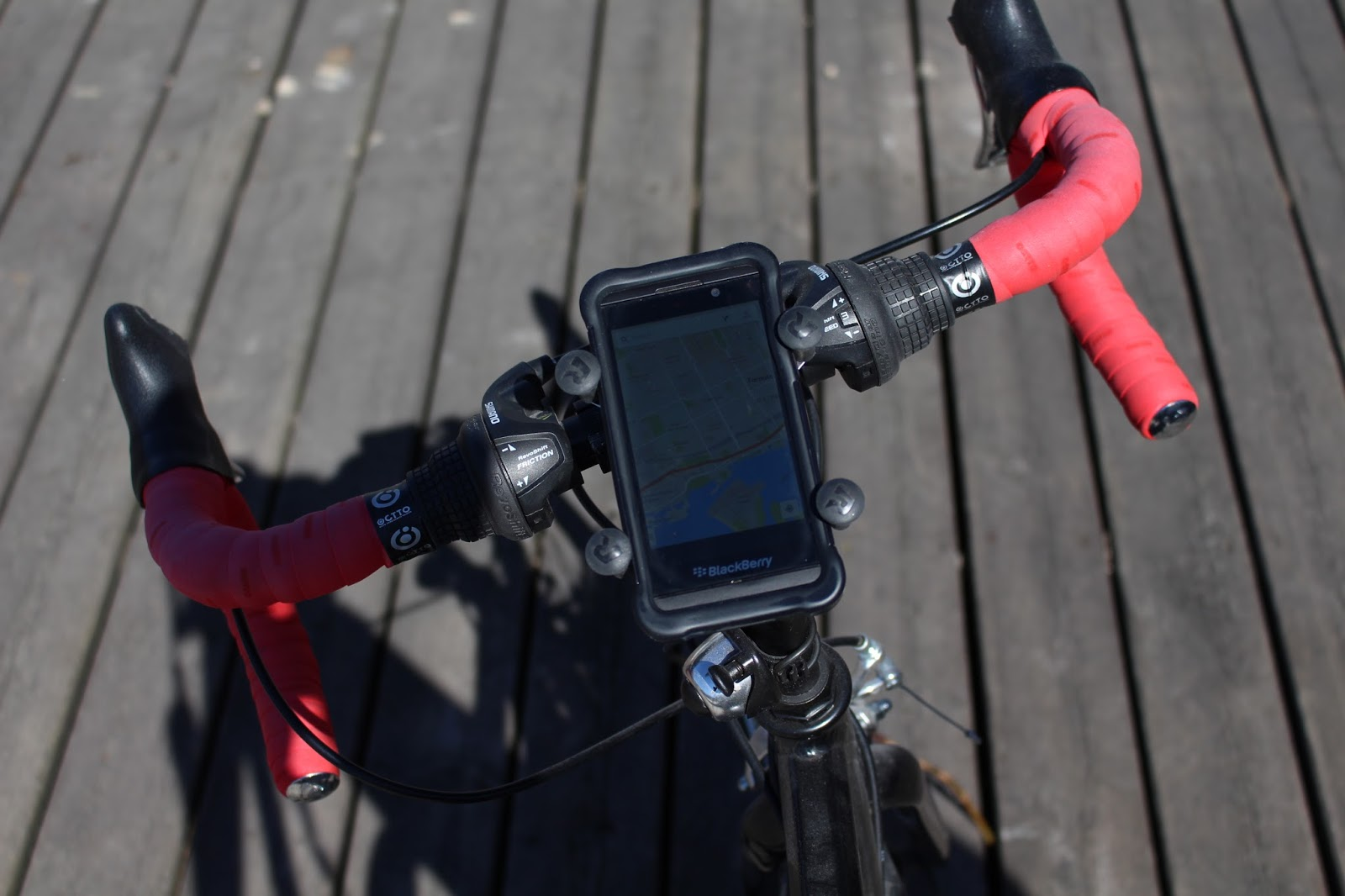 Phone attached and navigation on