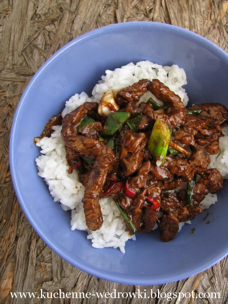 Imbirowa wołowina stir fry