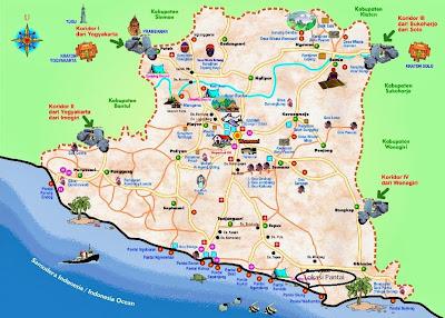 peta wisata wonosari