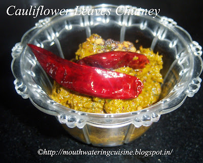 Cauliflower Leaves Chutney
