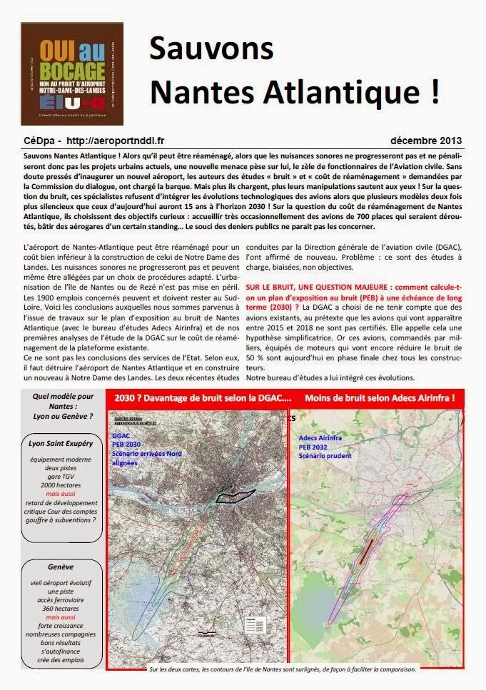 Sauvons Nantes-Atlantique - Tract CéDpa - décembre 2013