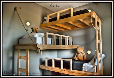 Triple Bunk Bed House Design Interior