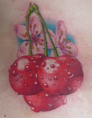Cherry Tattoos Designs For Girls