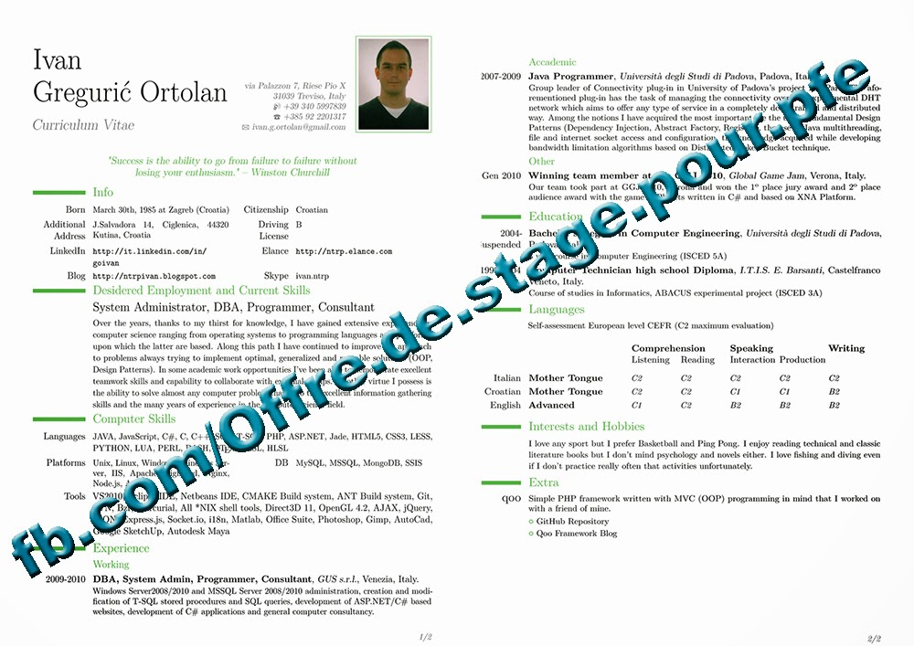 template cv en latex comment faire son cv sous latex