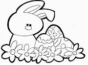 Primero busque el dibujo del conejo de pascua para colorear, mismo que aqui . easterbunny