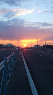 Закат на заливе