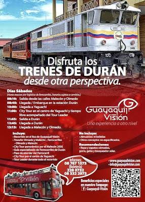 Turismo en Ecuador Paquete turístico en los Trenes de Duran