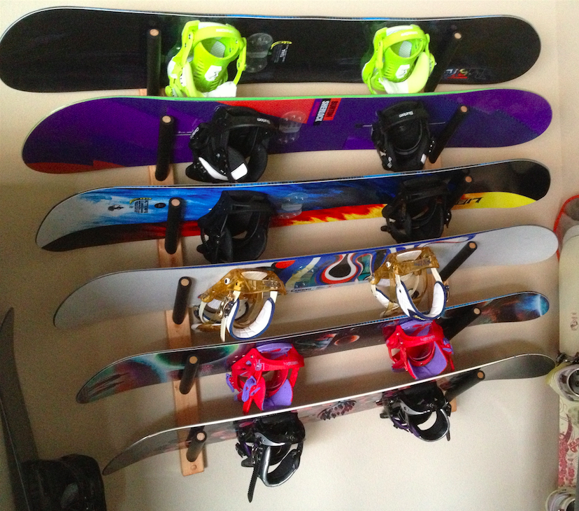 home snowboard wall rack