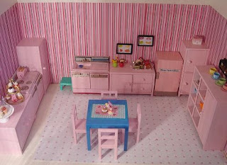 Pink kitchen cabinets image