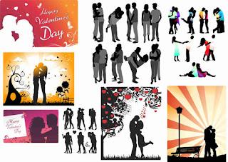 silhuetas românticas free