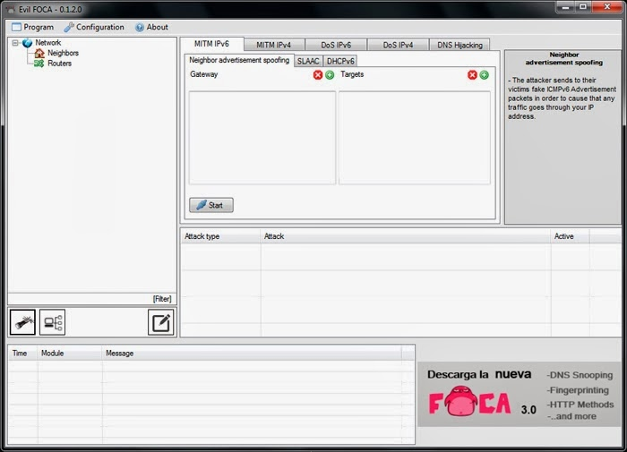 Free Hack Tools: [Evil Foca] IPv4 and IPv6 Penetration testing tool