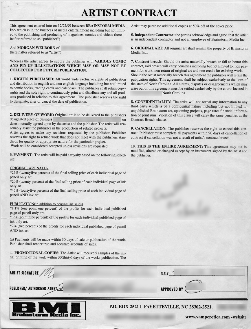 The Official Guide to Deadbeats in Comics: Sample Contract of a Scam ...