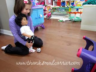 boy soccer doll