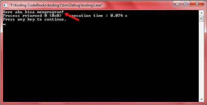 Hasil Compile Program