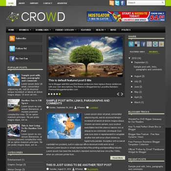 Crowd blog template. template image slider blog. magazine blogger template style. wordpress theme to blogger. template blog 3 column