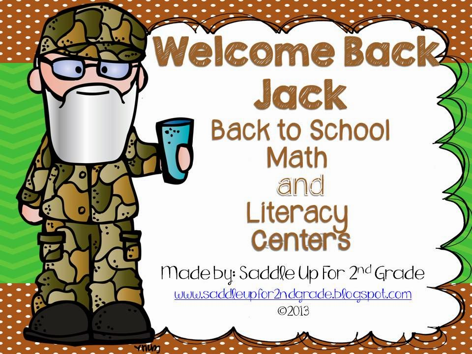 Welcome Back Jack Math and Literacy Centers by Saddle Up For 2nd Grade