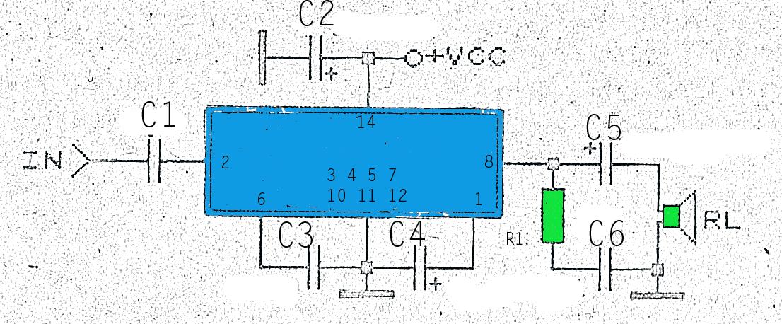 Watt audio amplifier circuit diagram