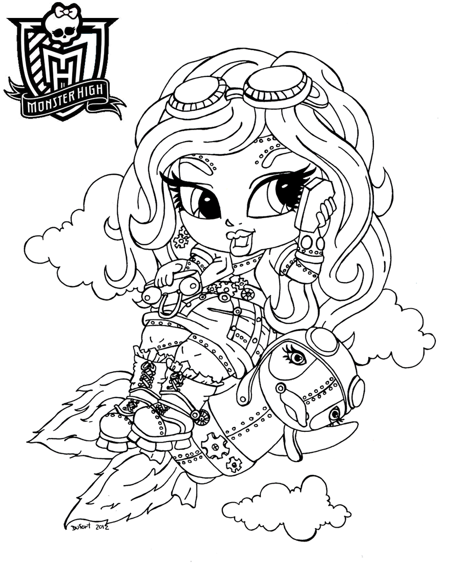Monster high imagenes de monster high para pintar for Baby monster high color pages