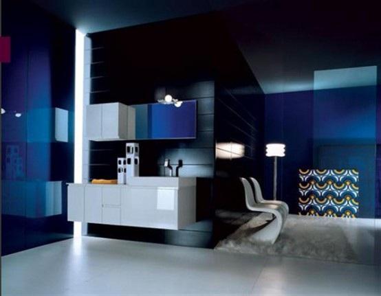 Imagenes De Baños Azules:Observa estas ideas de baños en diferentes tonos de colorazul