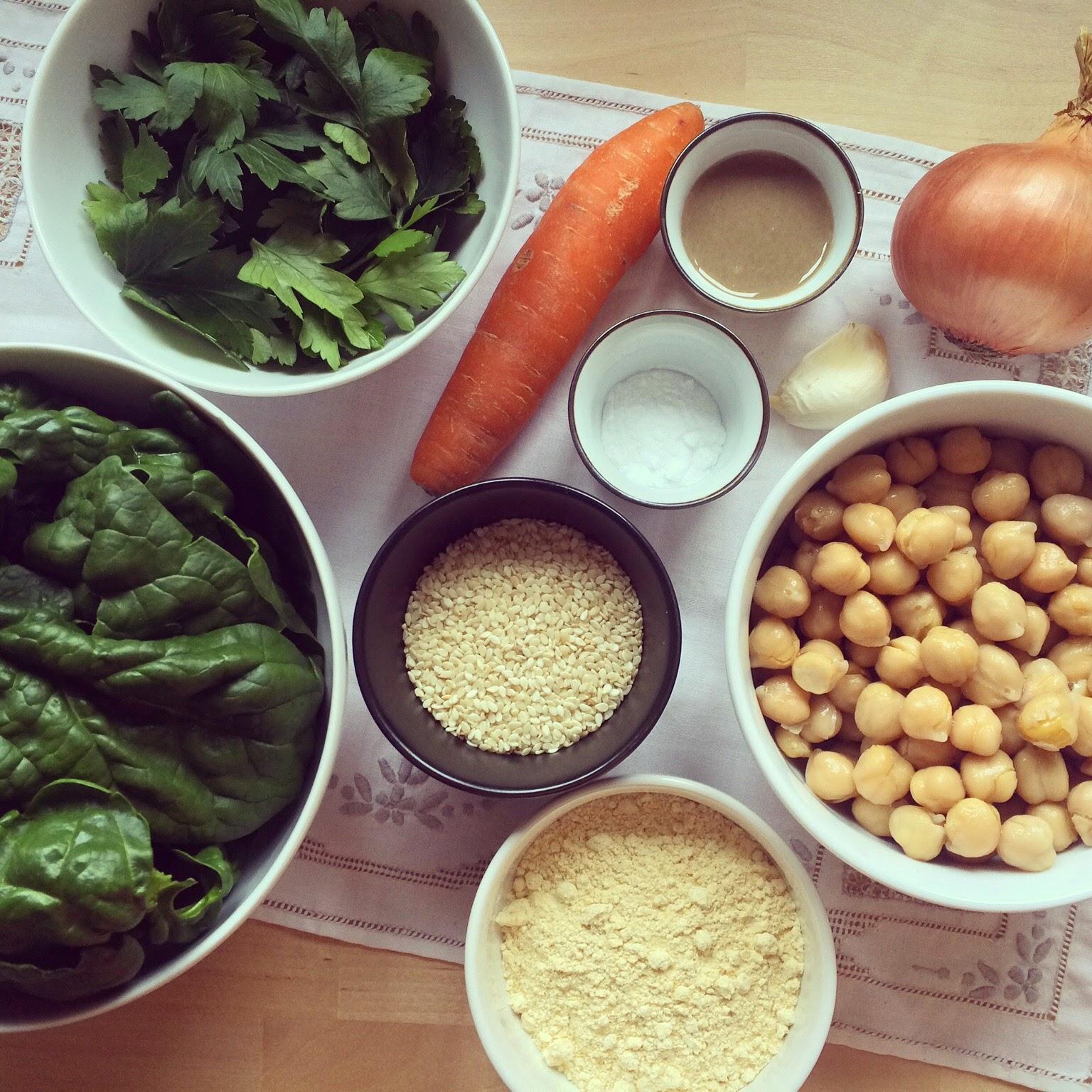 falafels au four aux légumes
