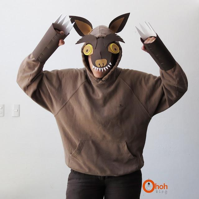 DIY wolf costume