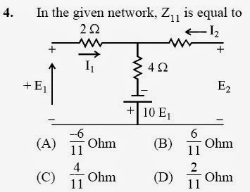 2012 December UGC NET in Electronic Science, Paper II, Questions 4