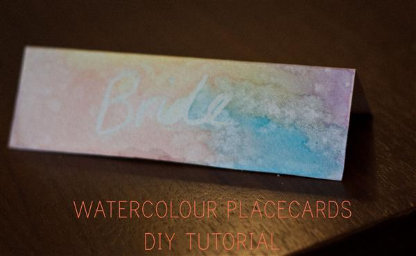 DIY Wedding Project Watercolour Place Name Cards