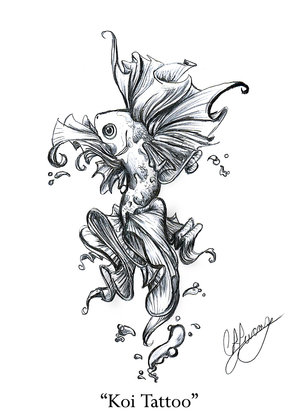 koi tattoo designs free. Popular Koi Fish Tattoo