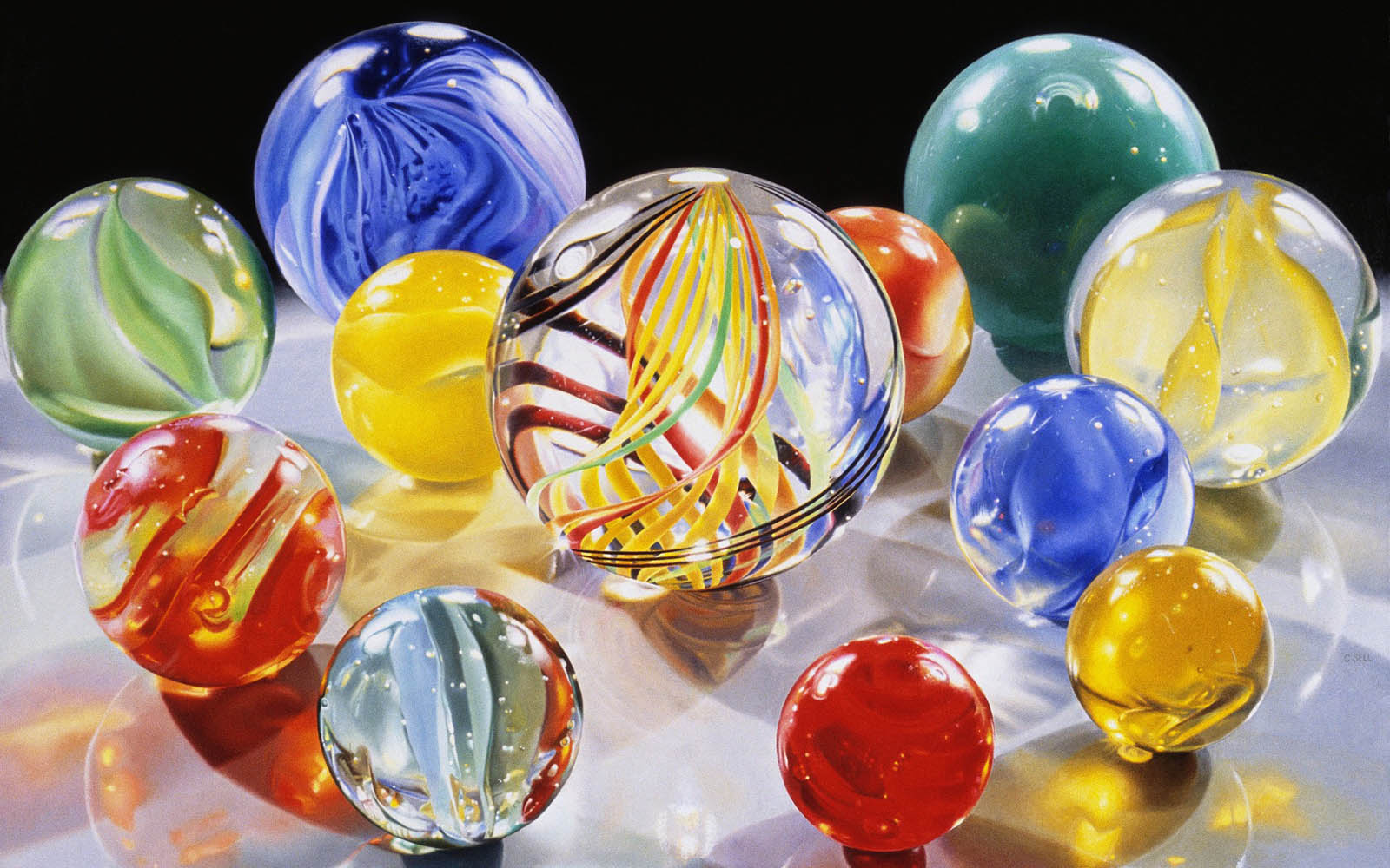 Wallpapers glass balls