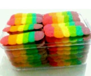 Gambar Resep Membuat Kue Lidah Kucing Rainbow